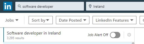 linkedin screenshot software developer